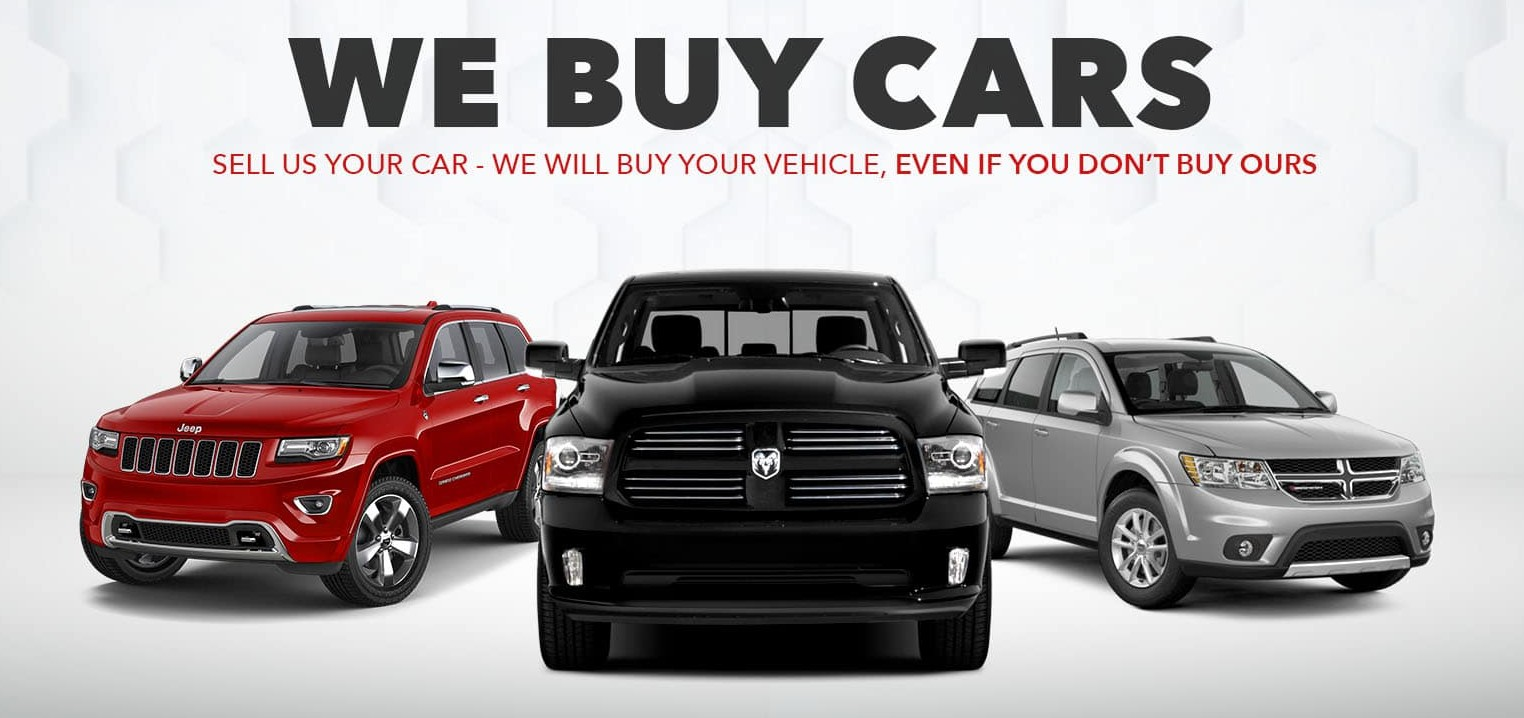 We Buy Cars, Sell us your car - We will buy your vehicle, even if you don't buy ours.